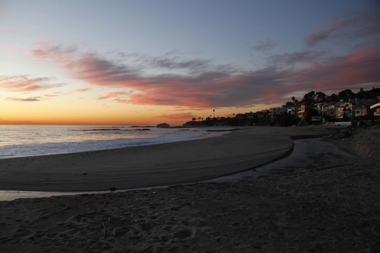 Sunset in Aliso Creek in Laguna Beach January 5th 2011