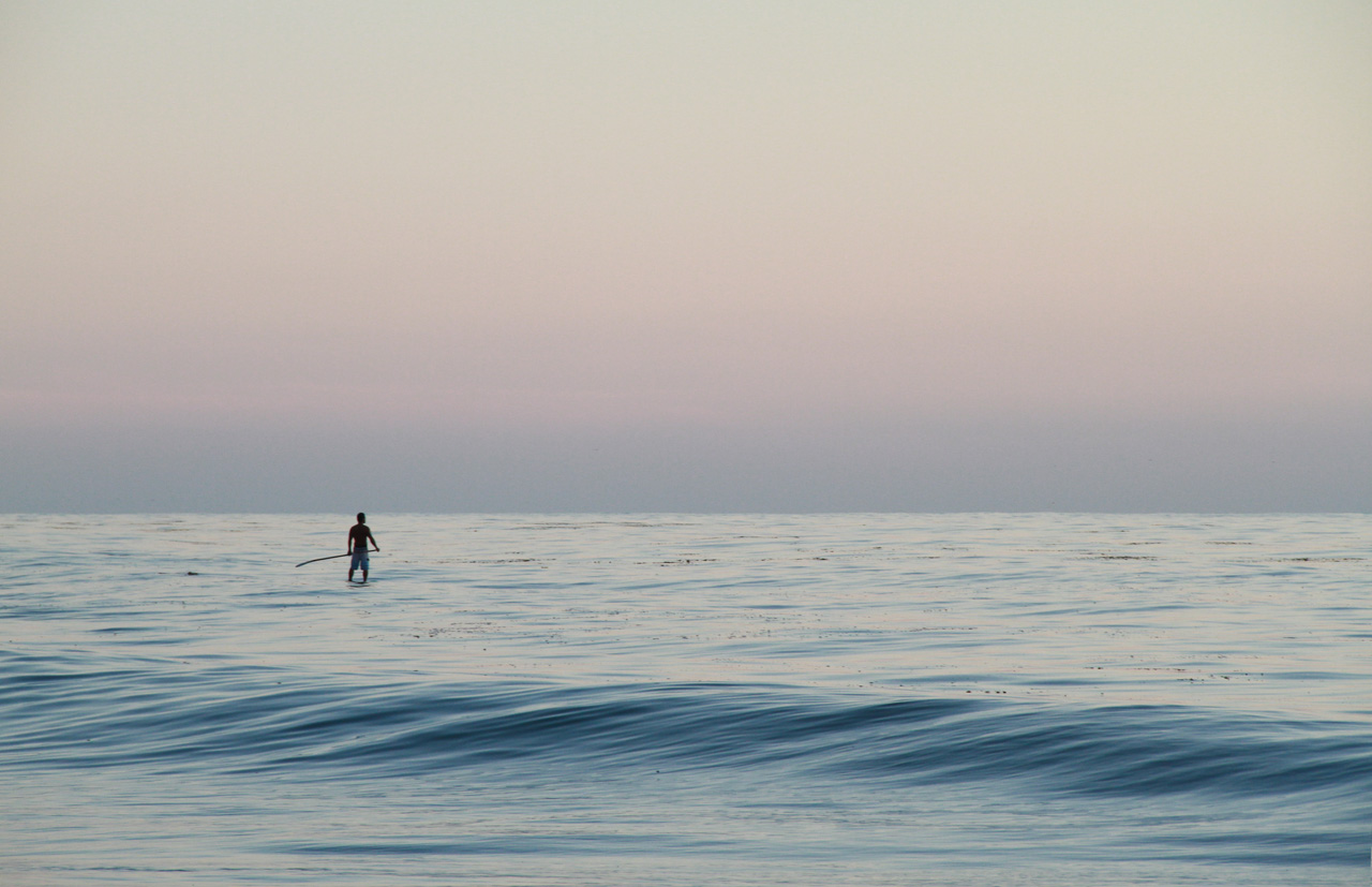 Paddleboarder at Thalia St in Laguna Beach 2013