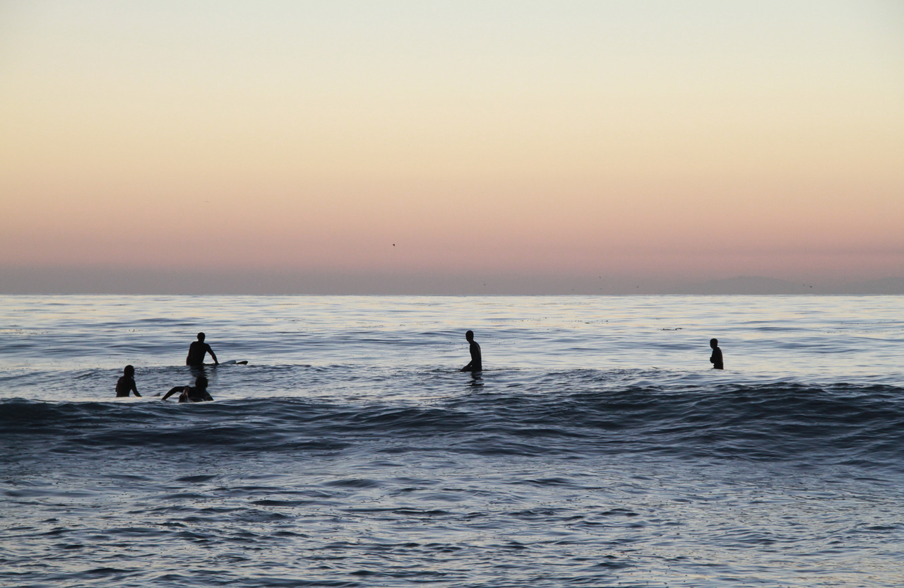 Sunset Surfers at Thalia St in Laguna Beach 2013