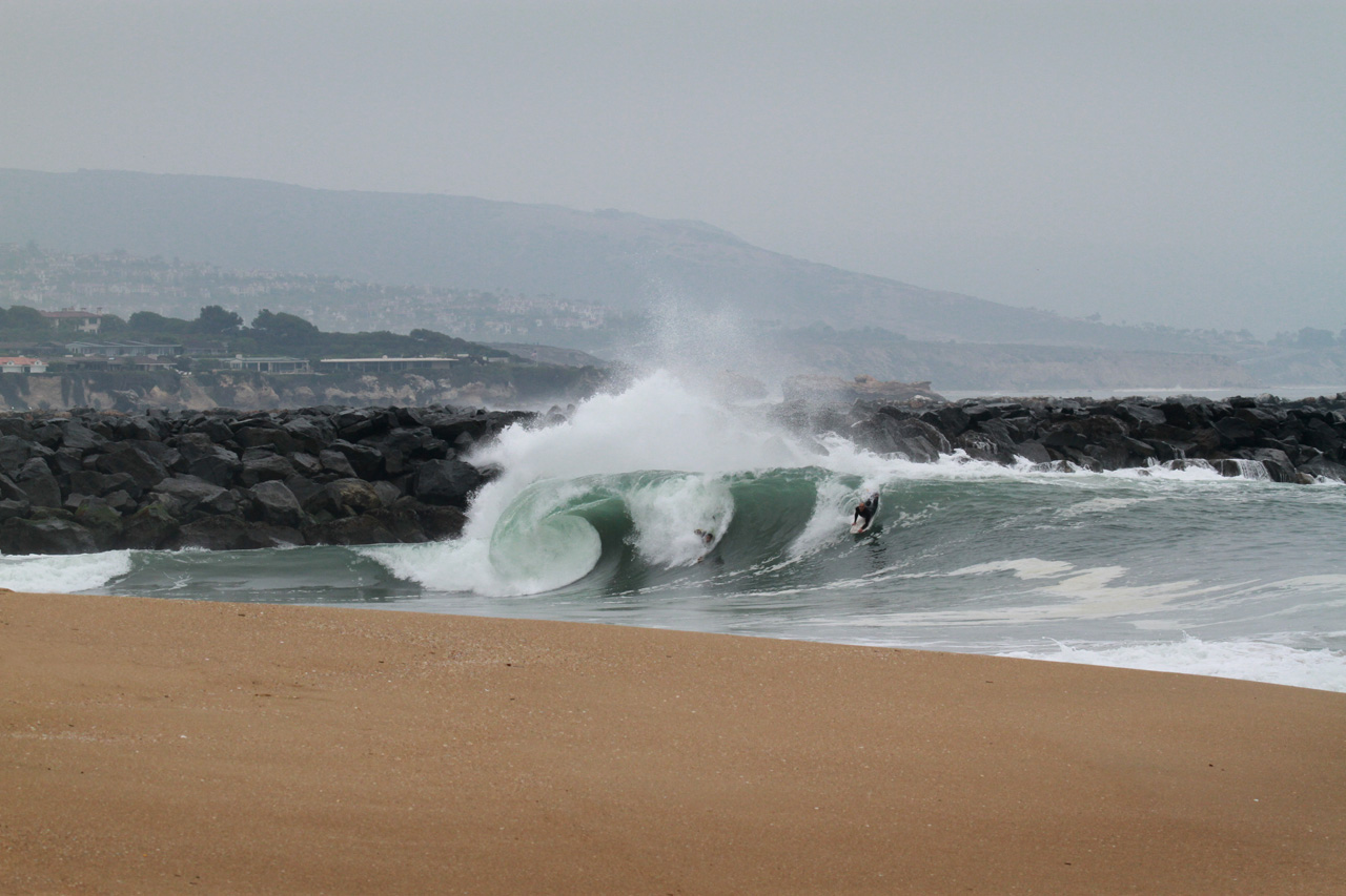 Click for big photo - The Wedge, Newport Beach 2013 June 07