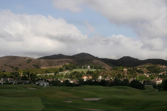 Cloudy day on the Coto golf course
